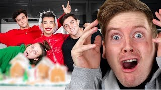 Best Friends Build A Gingerbread Dream House ft. Emma Chamberlain, Dolan Twins Sister Squad Reaction