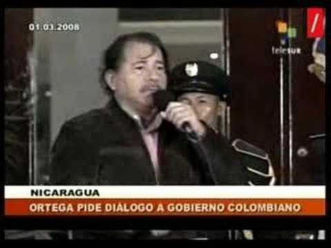 Presidente Ortega condena muerte de Raúl reyes