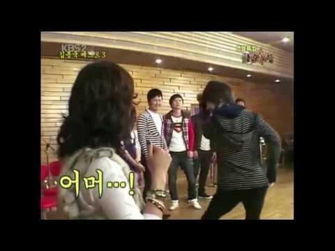 kpop idols imitate kim jongkook's sarang surowo