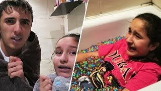 DEADLY ORBEEZ ICE BATH CHALLENGE WITH MY SISTER!!! 😱