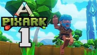 EPIC BEGINNINGS! - Let's Play PixARK Gameplay Part 1 (Ark Survival Evolved Meets Minecraft)