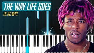 """Lil Uzi Vert - """"The Way Life Goes"""" Piano Tutorial - Chords - How To Play - Cover"""