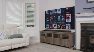 The CLEANEST Living Room Tech Setup!!