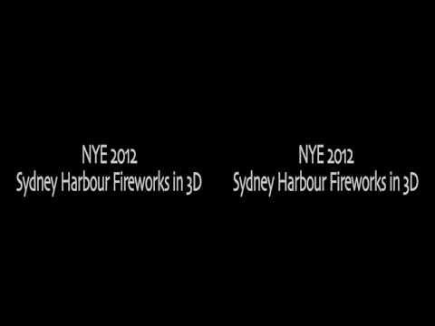3D Timelapse Sydney Harbour NYE Fireworks 2012