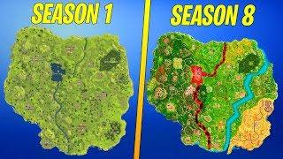 Evolution Of The Entire Fortnite Island! (Season 1-8)
