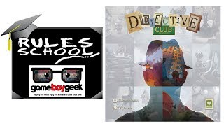 How to Play Detective Club (Rules School) with the Game Boy Geek