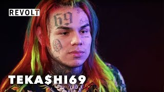 6ix9ine Explains His Two Failed Dives Off Stage.