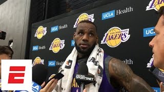 LeBron James on Lonzo Ball and Rajon Rondo: 'They were just born to be point guards'   NBA Interview
