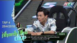 HTV NHANH NHƯ CHỚP | BB Trần, Hải Triều ngang tài ngang sức | NNC #4 FULL | 28/4/2018