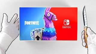 "Nintendo Switch ""FORTNITE"" Console Unboxing! (Double Helix Skin Bundle) Fortnite Battle Royale"