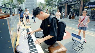 A Boy Finds Street Piano, Suddenly Plays 'Canon' So Fast