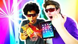 LASER BURNING IPADS, IPHONES AND MORE! FT. TECHSMARTT!!