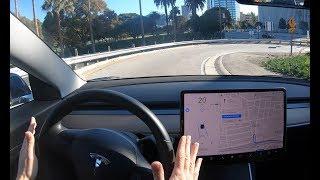 Tesla Autopilot - Crazy Curved Exit Ramps