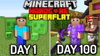 I Survived 100 Days in Minecraft Hardcore Mode, In a Superflat World