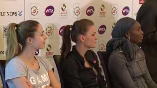 Williams, Radwanska, Cornet Participate in Women's Draw Ceremony