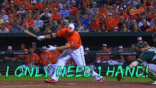 One Handed Home Runs!