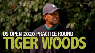 Tiger Woods tuesday practice round 2020 US Open