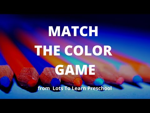 Early Childhood Educational Video | Match The Color Game | Nature