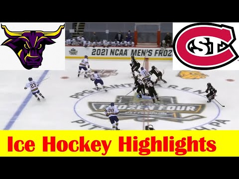 Minnesota State vs St. Cloud State Ice Hockey Game Highlights, 2021 NCAA Frozen Four