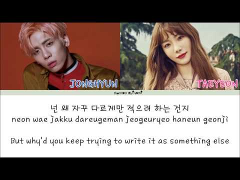 Jonghyun(종현) - Lonely (ft.Taeyeon(태연)) Color Coded Lyrics [Han|Rom|Eng]