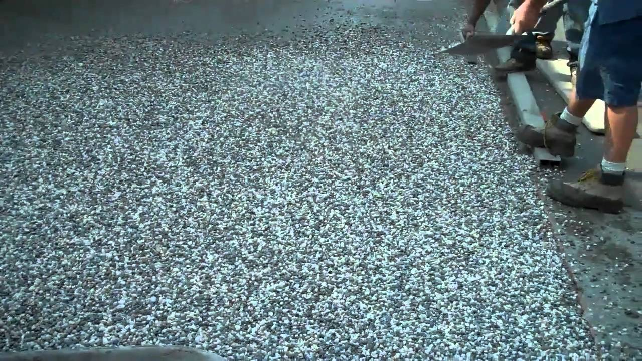Exposed Aggregate Concrete Installation Youtube