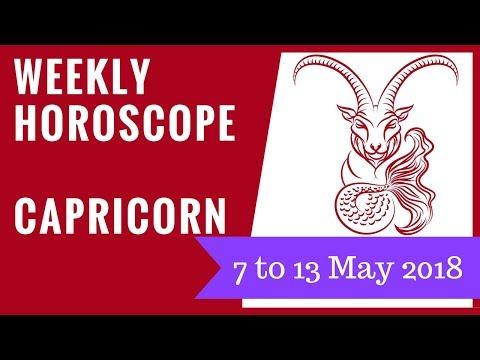Capricorn weekly horoscope 7 to 13 May 2018