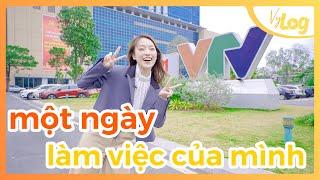 Một ngày đi làm tại VTV | Sau tốt nghiệp, mình làm gì? | VyLog Ep.9 Khánh Vy