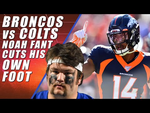 Broncos vs Colts: Noah Fant Cuts Foot