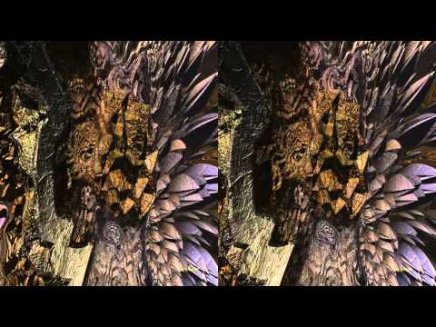 Flying in the Fractal World. (3D, side by side, left-right) by SanBase.org