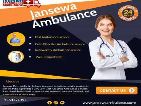 Advanced Ambulance Service from Ranchi to Hazaribagh by Jansewa Panchmukhi