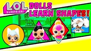 LOL Surprise Dolls Learn Shapes! Hunt for Shapes in the Castle and Open NEW LOL Surprise Pet