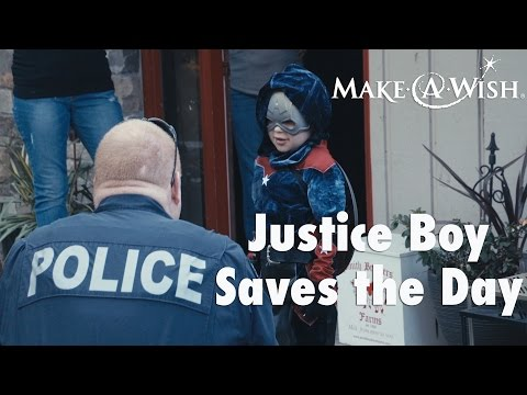 Justice Boy Saves the Day with Make-A-Wish Alaska and Washington