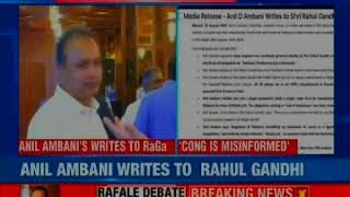Anil Ambani rejoinder to Rahul Gandhi over Rafale deal..
