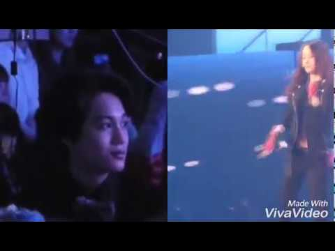 Kaistal ~ Kai watching and dance to f(x) ' s Electric Shock