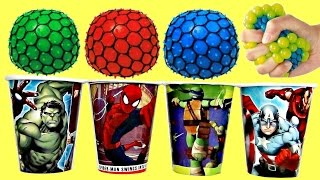 SUPERHERO Play-doh Ice Cream Cups, Color-Changing Stress Slime Squishy Ball, Avengers TMNT Toys TUYC