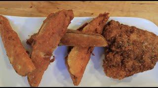 KFC Fried Chicken and Potato Wedges!!!