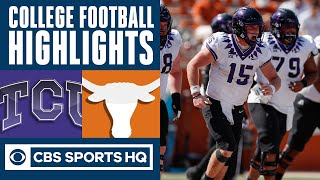 TCU vs #9 Texas Highlights: Duggan and the Horned Frogs stun Longhorns again 33-31| CBS Sports HQ