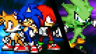 Sonic, Tails & Knuckles VS Ashura