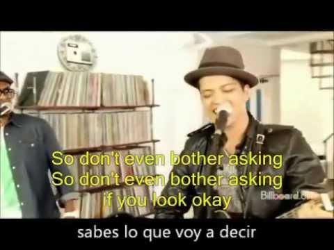 BRUNO MARS Just The Way You Are lyrics english/español letra subtitulada karaoke