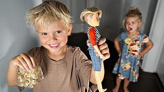 Tydus Gave RyRy's Favorite Doll A HAIRCUT! *Bad Idea*
