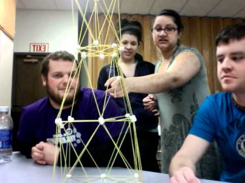 Spaghetti And Marshmallow Tower Team Awesome Youtube
