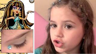Monster High Makeup Scary Cute Beauty Set Tutorial for Kids