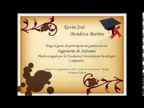 Texto Para Invitación A Grado Universitario Imagui