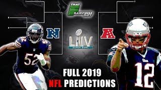 Full 2019 NFL Predictions   Standings, Playoffs, Super Bowl, and Awards!
