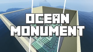 Minecraft: Clearing Water of the Ocean Monument in Survival [3 Minutes Tutorial]