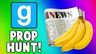 Gmod Prop Hunt Funny Moments - Fruit Torture, Good NEWS, Killer Toilet! (Garry's Mod)
