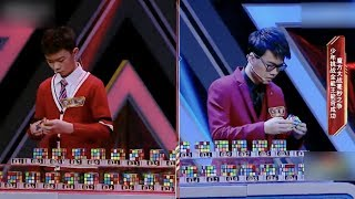 Impossible Challenge: A tale of 100 Rubik's Cubes