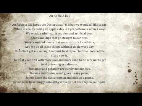 Healthy Eating Poem Youtube