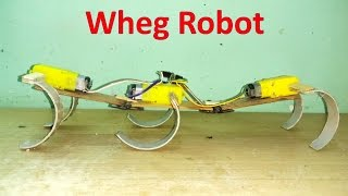 How to make a six legged wheg all terrain robot at home