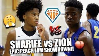 SHARIFE vs ZION EPIC PEACH JAM SHOWDOWN!!   CRAZIEST PG Battle I've Ever Seen *NOT Clickbait*